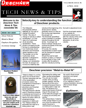 Deschner Newsletter #4 - April 2010