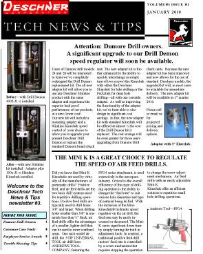 Deschner Newsletter #3 - Jan 2010
