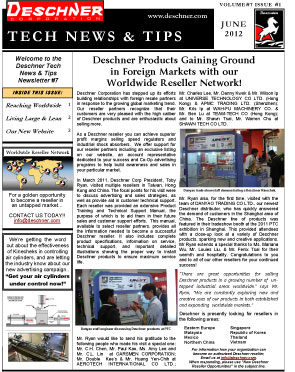 Deschner Newsletter #7 - June 2012