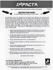 Impacta Instruction Sheet