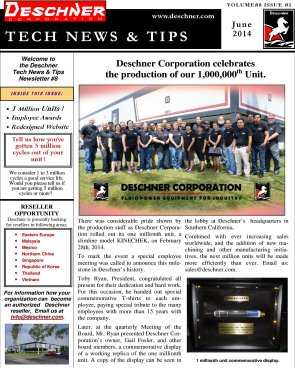 Deschner Newsletter #8 - June 2014